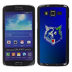 Impact Case Cover with Art Pattern Designs FOR Samsung Galaxy Grand 2 Cool Neon Wolf Werewolf Betty shop