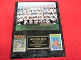 1986 Mets World Series Champions 2 Card Collector Plaque #1 w/8x10 Color Photo