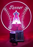 Los Angeles Angels Light Up LED Handmade Angels MLB Baseball Personalized Light Lamp Light Up Table Lamp, Our Newest Feature - It's WOW, With Remote 16 Color Option, Dimmer, Free Engraving, Great Gift