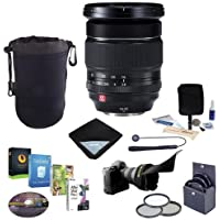 Fujifilm XF 16-55mm F2.8 R LM WR Lens - Bundle with 77mm Filter Kit, Flex Lens shade, Lens Wrap, Cleaning Kit, Lens Case, and Professional Software Package