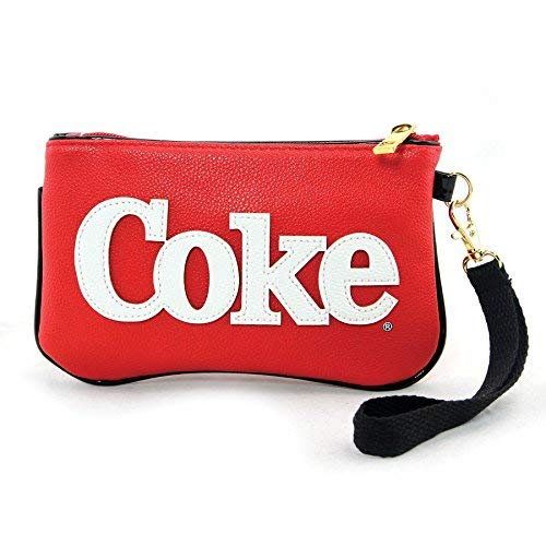 (Coca-Cola Emoji Polar Bear Faux Leather Wristlet Purse, 7 1/2 Inches)