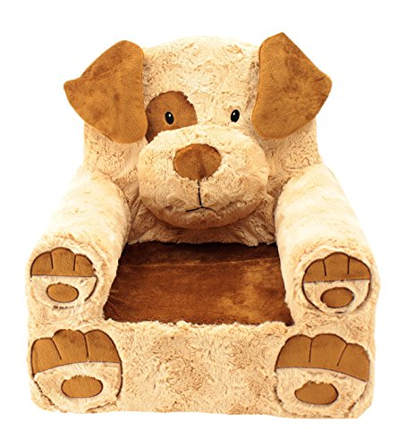 Animal Adventure Sweet Seats | Tan Dog Children's Chair | Large Size | Machine Washable Cover ()