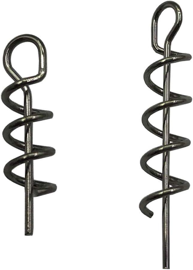 100Pcs Soft Lure Bait Hook Pins Spring Fixed Lock Fishing Screw Needle Soft Worm