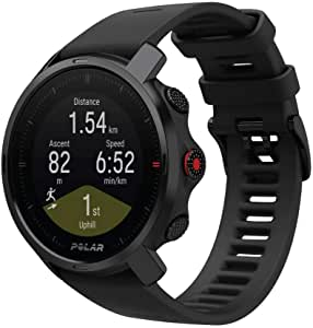Polar Grit X - Rugged Outdoor Watch with GPS, Compass, Altimeter and Military-Level Durability for Hiking, Trail Running, Mountain Biking and other Sports - Ultra-Long Battery Life