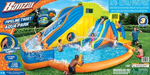 BANZAI Pipeline Twist Kids Inflatable Outdoor Water Pool Aqua Park and Slides by BANZAI (Image #7)