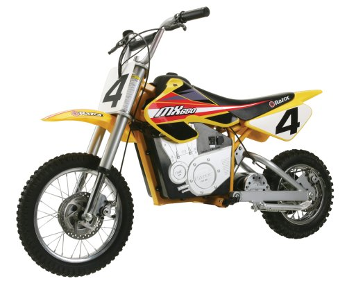 Razor MX650 Dirt Rocket Electric Motocross Bike (Drive Wheel Performance Front)