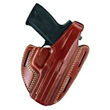 Gould & Goodrich GG803-250 Gold Line Three Slot Pancake Holster, Fits Sig 250 Compact 9mm, 40, 0.357 (Chestnut Brown)