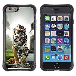 Suave TPU GEL Carcasa Funda Silicona Blando Estuche Caso de protección (para) Apple Iphone 6 / CECELL Phone case / / Steam Punk Tiger Robot /
