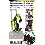 To-Block blocca tutto sul trolley, l'esclusivo sistema di fissaggio bagagli che consente di muoverti liberamente durante i tuoi viaggi.