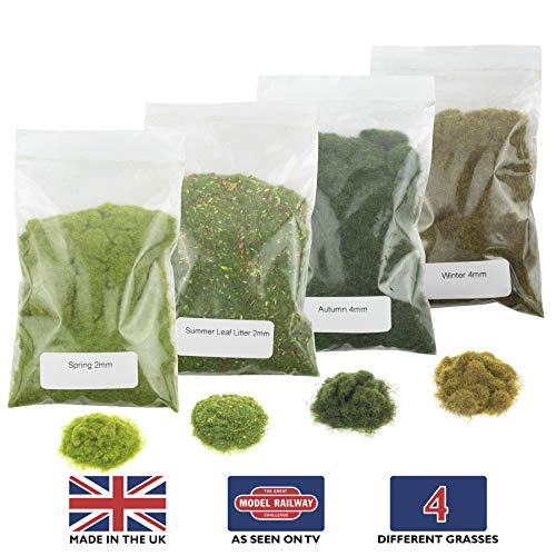 War World Scenics Static Grass Starter Kit 2 - Modelling Model Railway Railroad Wargame Layout Scenery Terrain Landscape Diorama Materials Track All Gauges