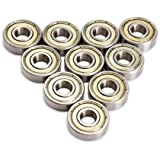 Vktech 10pcs Skateboard Scooter Ball Roller Ball Bearings Skate Wheels