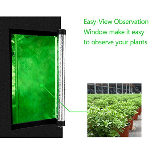 "CoolGrows 2x2x4 Feet Small Indoor Mylar Hydroponics Grow Tent (24""x 24""x 48"")"