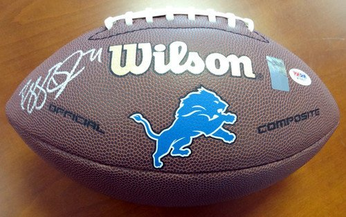 Lions Brown Football (Reggie Bush Signed Brown Logo Football Detroit Lions - PSA/DNA Authentication - Autographed NFL Footballs)