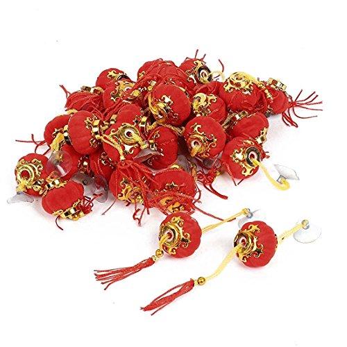 Pendant ornaments lantern - TOOGOO(R) Pumpkin Shape Tassels Adorn Chinese Red Lantern Decoration 30 Pcs - Pumpkin Lantern