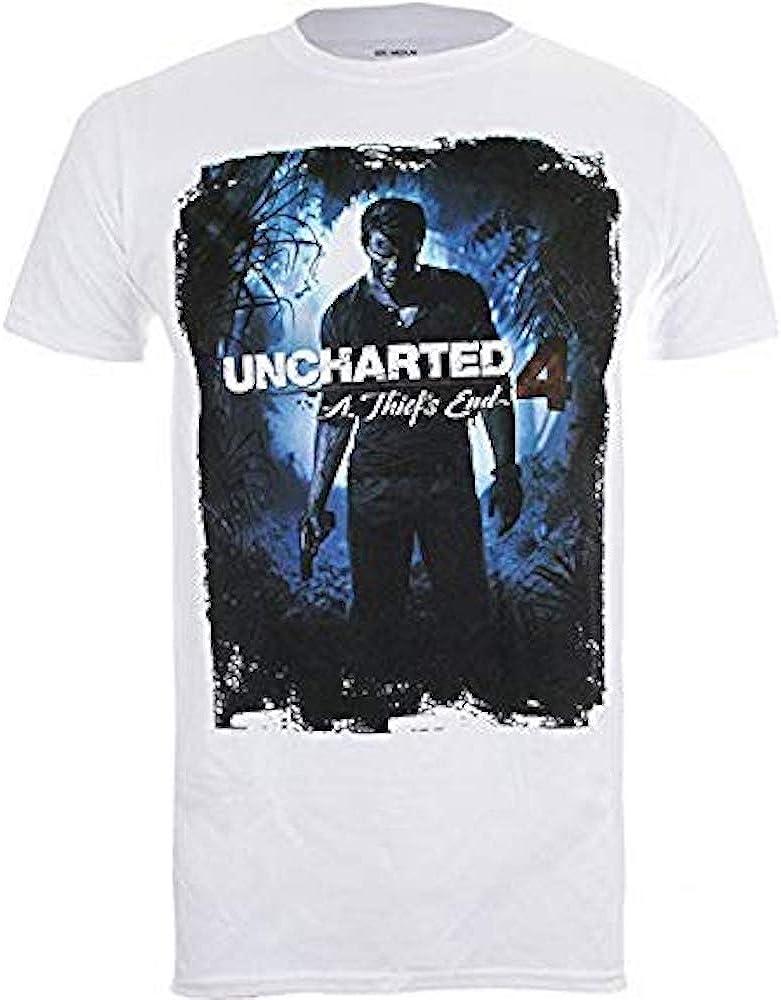 Uncharted 4 - a ThiefS End Funda - Camiseta Oficial Hombre: Amazon.es: Ropa y accesorios