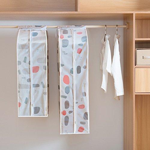 Vivona 3D Garment Clothes Covers Protector Breathable Dustproof Waterproof Hanging Clothes Storage Bag for Coat Dress Windcoat Closet Organizer - (Size: L, Color: 3)