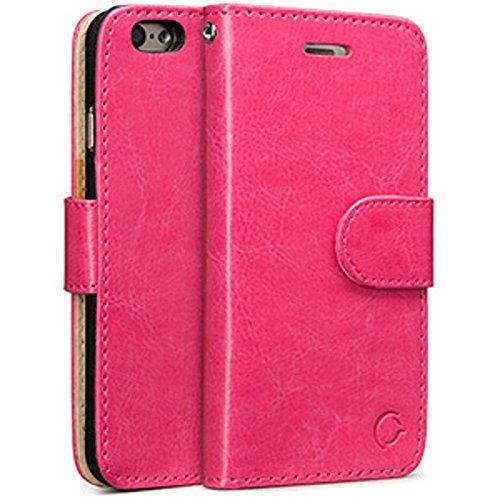 iPhone 6 Plus Case, iPhone 6S Plus Case, iPhone Wallet Case Cellairis Madison Phone Cover Wristlet Cardholder Money Slot - Hot Pink (Protector Cash Money Faceplate)