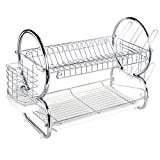ADDMIRRE 2 Tier Rust Proof Quality Upgrading Dish Drying Rack,22''10''15'' Dish Drainer