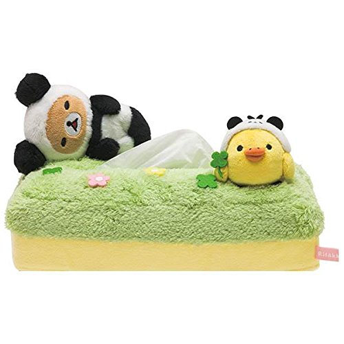 San-X Rilakkuma Tissue Cover Plush Animal - Panda de Gororin Series (KF86301)