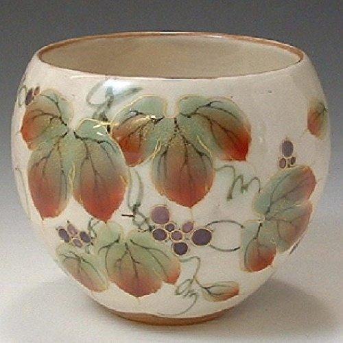 Kiyomizu-kyo yaki ware. Yunomi teacup hanazoroe wildvine with paper box. Ceramic. kymz-AHS13 ()