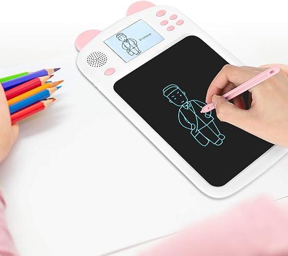 LCDライティングタブレット、8.5インチ消去可能な電子グラフィック落書きボードeWriter描画パッド、教育用描画ボードライティングパッド、子供および大人向けホームスクールオフィス手書きタブレット(ブルー/ピンク)(2#)