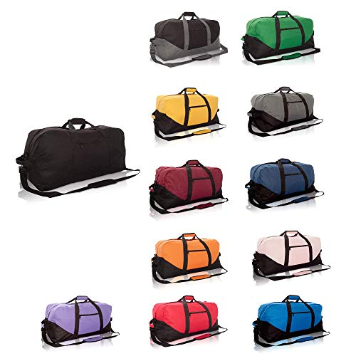 DALIX 25 Big Adventure Large Gym Sports Duffle Bag (Black Grey Navy Blue Red Camo)