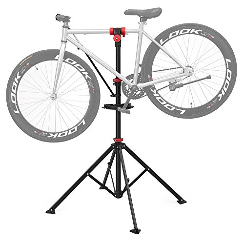 SONGMICS Pro Mechanic Bike Repair Stand with Tool Tray Telescopic Bicycle Maintenance Rack Workstand Lightweight and Portable USBR02B by SONGMICS