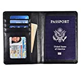 Yuhan Pretty Leather Passport Holder Wallet Cover Case RFID Blocking Travel Wallet