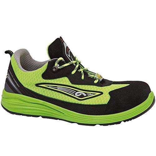 Giasco up123y39Yellow–Zapatos de seguridad bajo S1P negro/neón verde, black-neon, 41