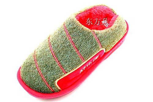 Fankou maschio e femmina paio di pantofole di cotone mezza pensione a caldo con gancio di spessore carta al ,39-40, Deep Colour