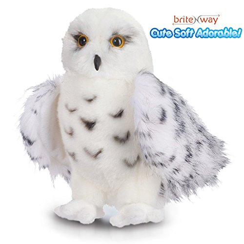 Premium Quality Snowy White Plush Hedwig Owl Toy – 12-Inch tall - Adorable Stuffed Animal – Extremely Soft, Cuddly & Fluffy – With Excellent Detail – Perfect Gift Idea For Bird Lovers & Children