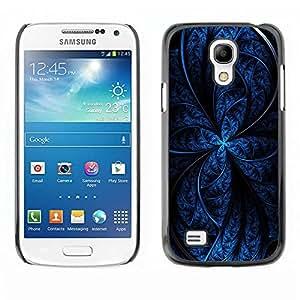 Caucho caso de Shell duro de la cubierta de accesorios de protección BY RAYDREAMMM - Samsung Galaxy S4 Mini i9190 MINI VERSION! - Blue Abstract