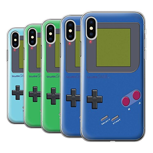 Stuff4 Gel TPU Hülle / Case für Apple iPhone X/10 / Pack 9pcs / Videogamer/Gameboy Kollektion
