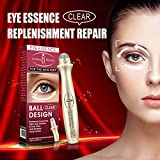 Wrinkle Eye Serum Anti-Puffiness Eye Roller Massages Hydra-Energetic, Anti Fatigue Ice Cold Eye Roller With Vitamin C & Caffeine, For Tired Skin