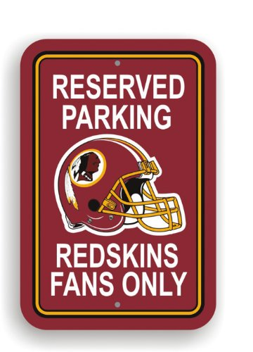 NFL Washington Redskins Plastic Parking Sign (Redskins Washington Sign)