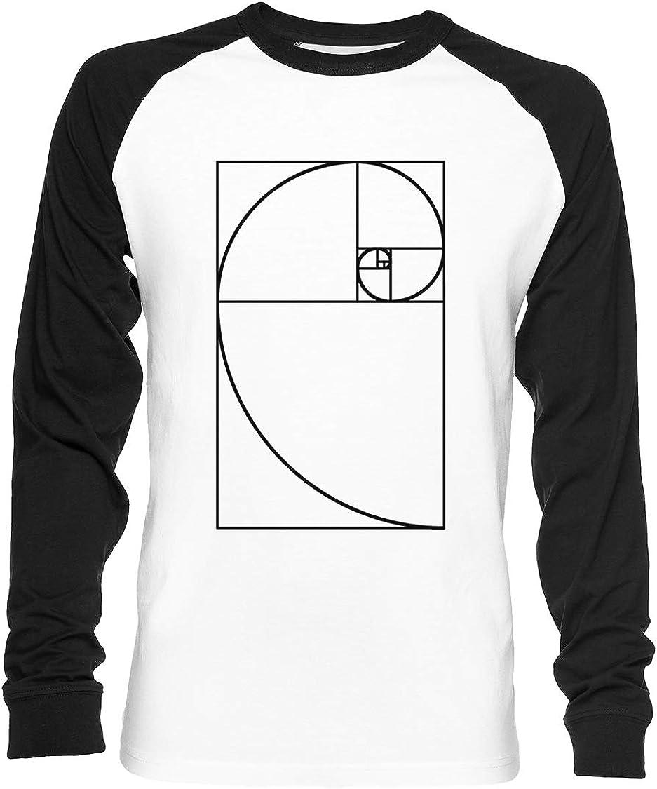 Dorado Proporción - Transparente Unisex Camiseta De Béisbol Manga Larga Hombre Mujer Blanca Negra: Amazon.es: Ropa y accesorios