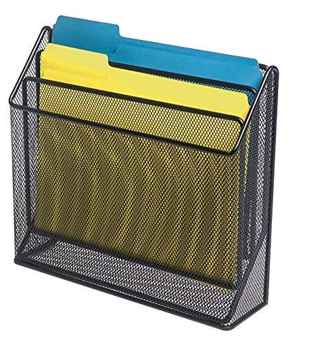 1InTheOffice 3 Tiers File Folder Organizer, Desk Sorter, Black Mesh