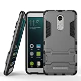 Xiaomi Redmi Note 3 Armor Case DWaybox 2 in 1 Hybrid Heavy Duty Hard Back Cover Case for Xiaomi Redmi Note 3 / Redmi Note 3 Pro Stand Case with kickstand (Gray)