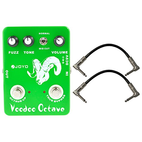 Joyo JF-12 Voodoo Octave Pedal US Dealer w/ 2 Patch Cables