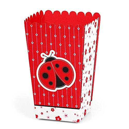 Modern Ladybug - Baby Shower or Birthday Party Favor Popcorn Treat Boxes - Set of 12 (Ladybug Baby Shower Favors)