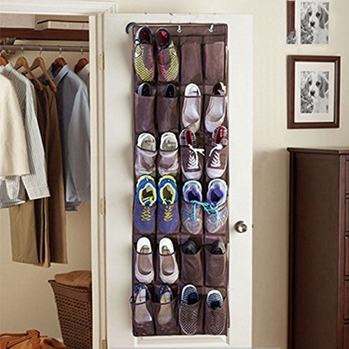 Max Costume Tutorial (Bolife 24-Oversized Pockets Over The Door Hanging Shoe Organizer with Hooks,Convenient Hanging System for 12 Pairs)