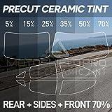 25 car tint windows - MotoShield Pro PreCut Ceramic Tint Film for All Windows Any Tint Shade for Sedan and Coupe