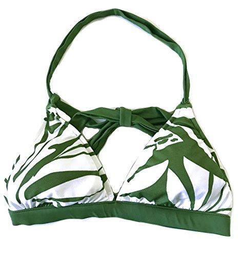 Quiksilver Leilani Women's Cali Banded Halter Bikini Top, Green ()