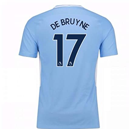 65b5f69c6 Amazon.com   UKSoccershop 2017-18 Man City Home Shirt - Kids (De ...