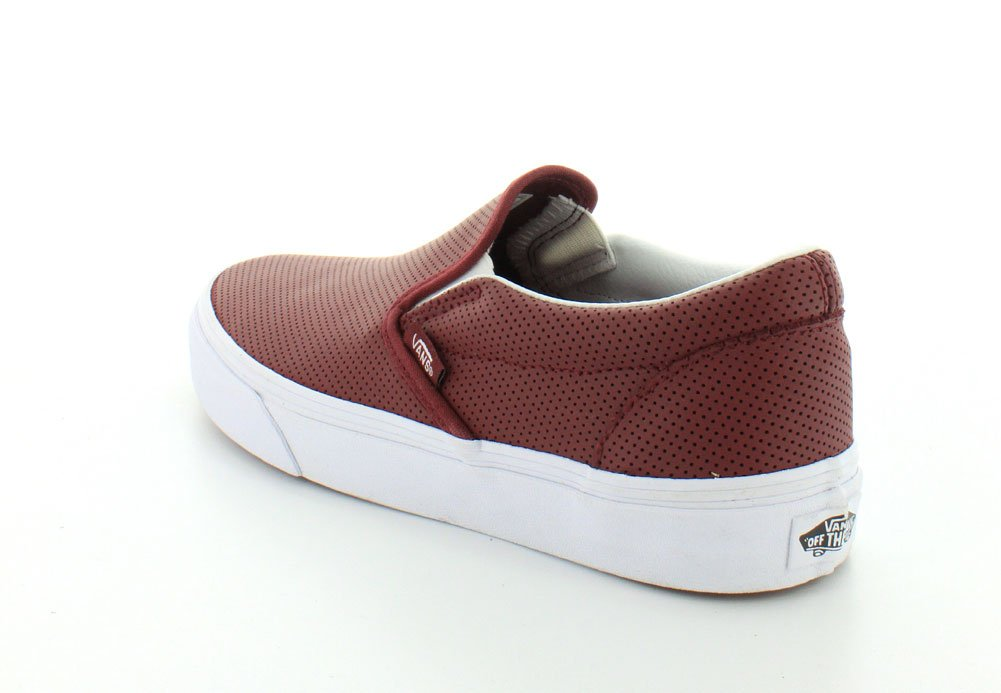 ... Vans Leather) Unisex Classic Slip-On (Perf Leather) Vans Skate Shoe  B00UK8O38C ... 405a90882