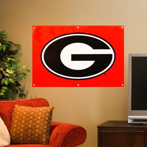 Nylon Georgia Indoor Flag - NCAA Georgia Bulldogs Fan Banner
