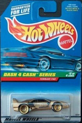 Hot Wheels 1998 Dash 4 Cash 1:64 Scale Gold Ferrari F40 Die Cast Car 2/4