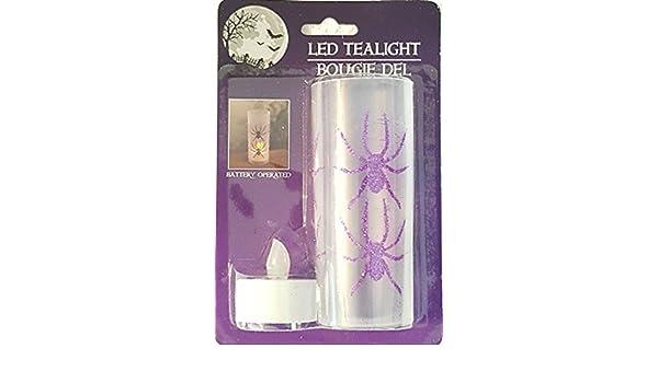 Bougie Del Halloween LED Teatlight Spider Motif