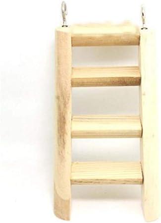 MIKI Shop escalera de escalada de madera para colgar, escalera de escalada, juguete para hámster, ardilla, cobaya, cerdo: Amazon.es: Hogar