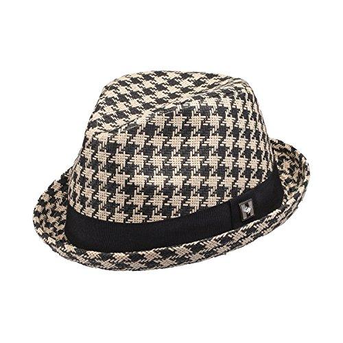 - Peter Grimm Mainz Fedora Hat Black/White